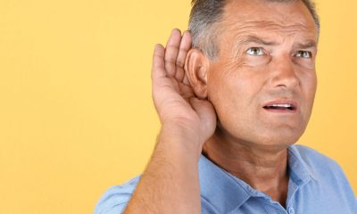 man with hearing problems