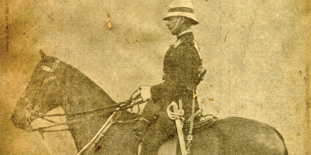 Mounted Constable Wilson on his horse