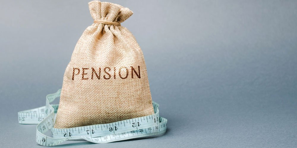 bag with pension written on it