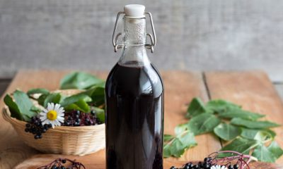 Picture of Elderberry in a bottle